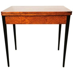Art Deco Playing Table in Bird's-Eye Maple, France, 1930