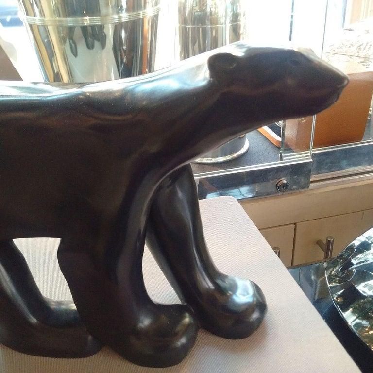Art Deco 'Polar Bear' Bronze by Pompon For Sale 2