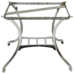 Art Deco Polished Steel Sculptural Dining Table Base Chicago by HDW Foundry Co.