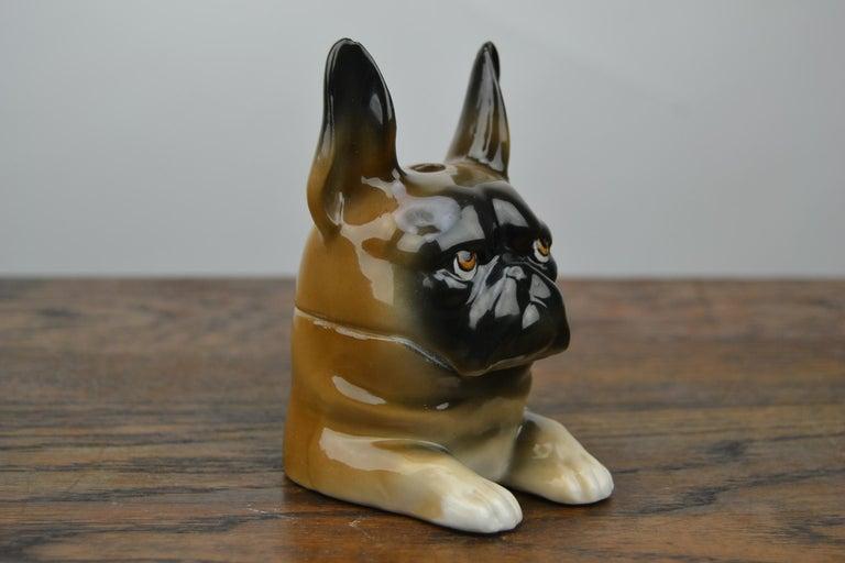 Art Deco Porcelain Bulldog Inkwell, Germany For Sale 8