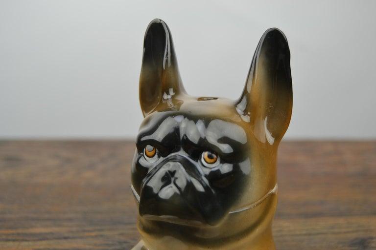 Art Deco Porcelain Bulldog Inkwell, Germany For Sale 2