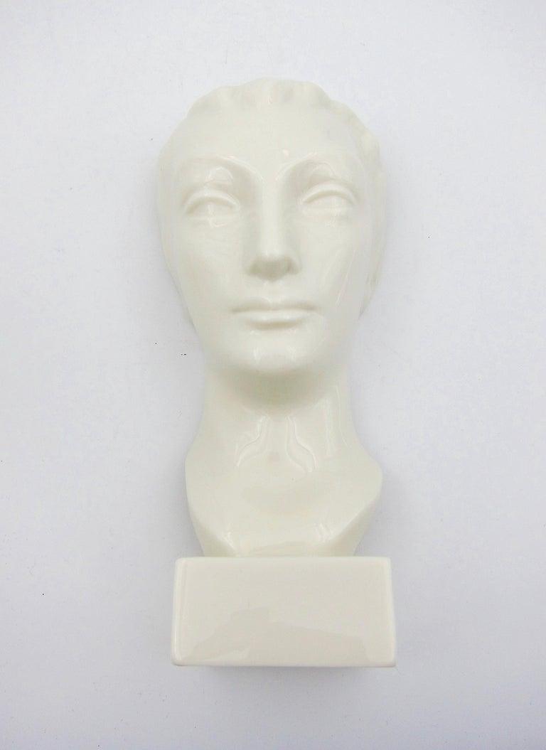 20th Century Art Deco Porcelain Bust Pair by Geza de Vegh for Lenox  For Sale
