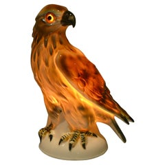 Art Deco Porcelain Eagle Perfume Lamp, Germany, 1930s