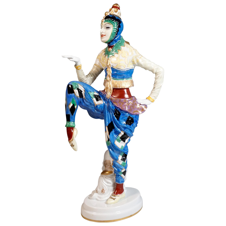 Art Deco Porcelain Figure 'Korean Dance' by Holzer-Defanti, Rosenthal, Germany