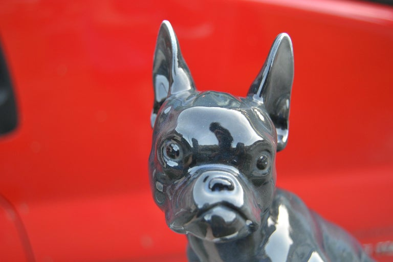 Art Deco Porcelain French Bulldog by Otto Thiem, Fraureuth Germany, 1920s For Sale 9