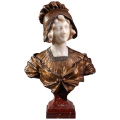 Art Deco Portrait Bust by Affortunato Gory