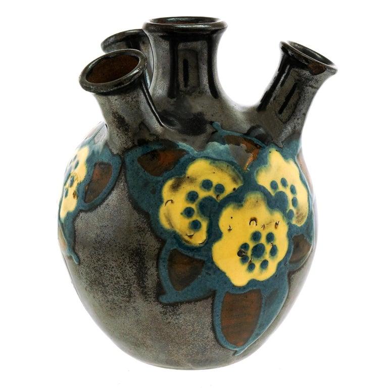 Art Deco Pottery Vase by Paul Jacquet 4