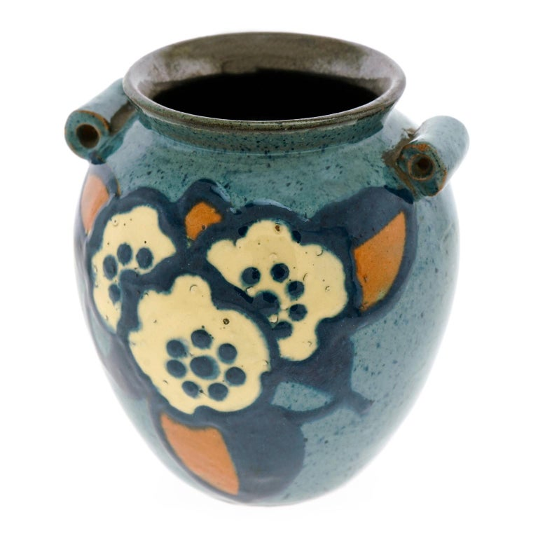 French Art Deco Pottery Vase by Paul Jacquet For Sale
