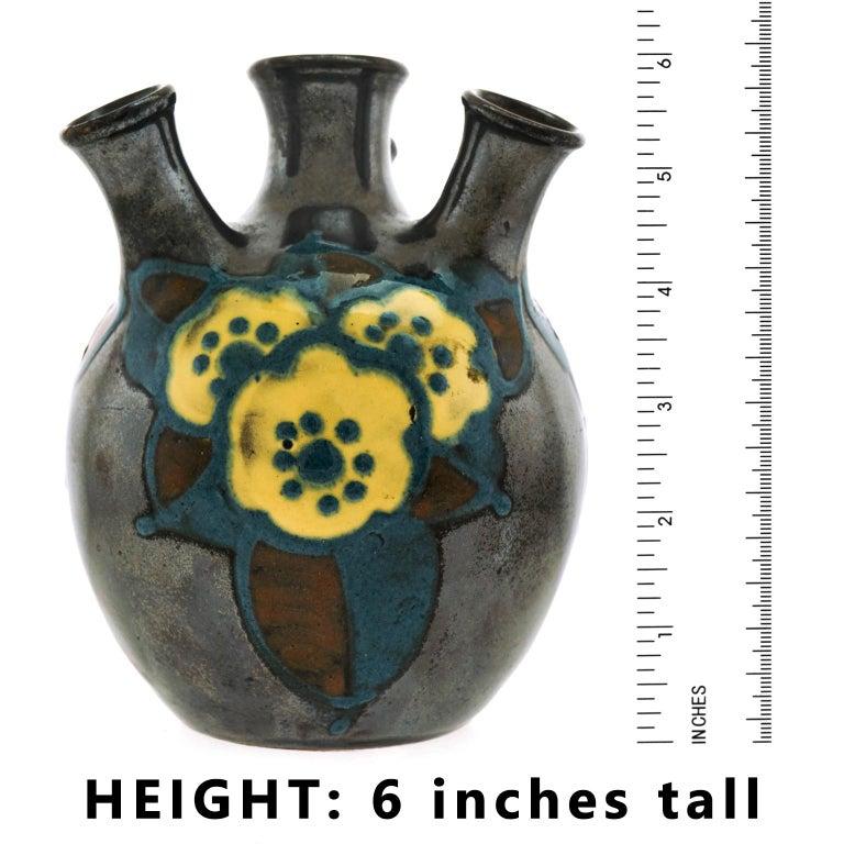 Ceramic Art Deco Pottery Vase by Paul Jacquet