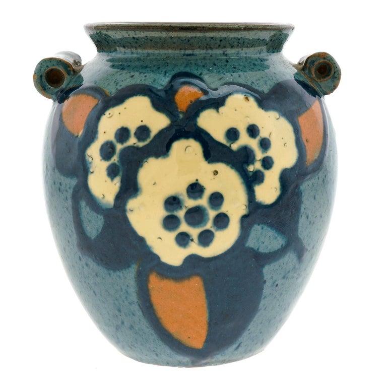 Art Deco Pottery Vase by Paul Jacquet For Sale 1