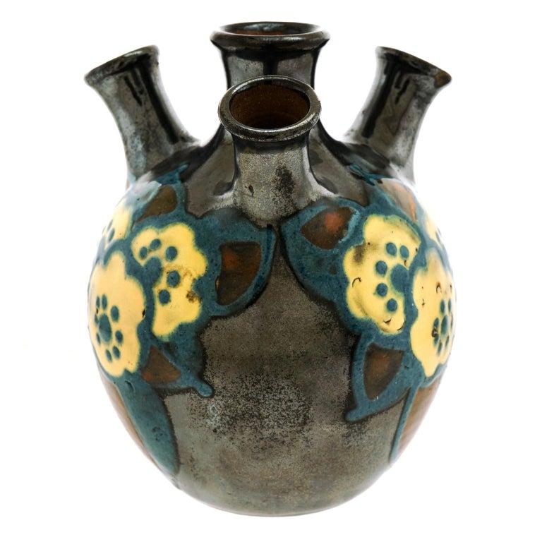 Art Deco Pottery Vase by Paul Jacquet 3