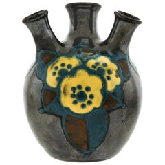 Art Deco Pottery Vase by Paul Jacquet