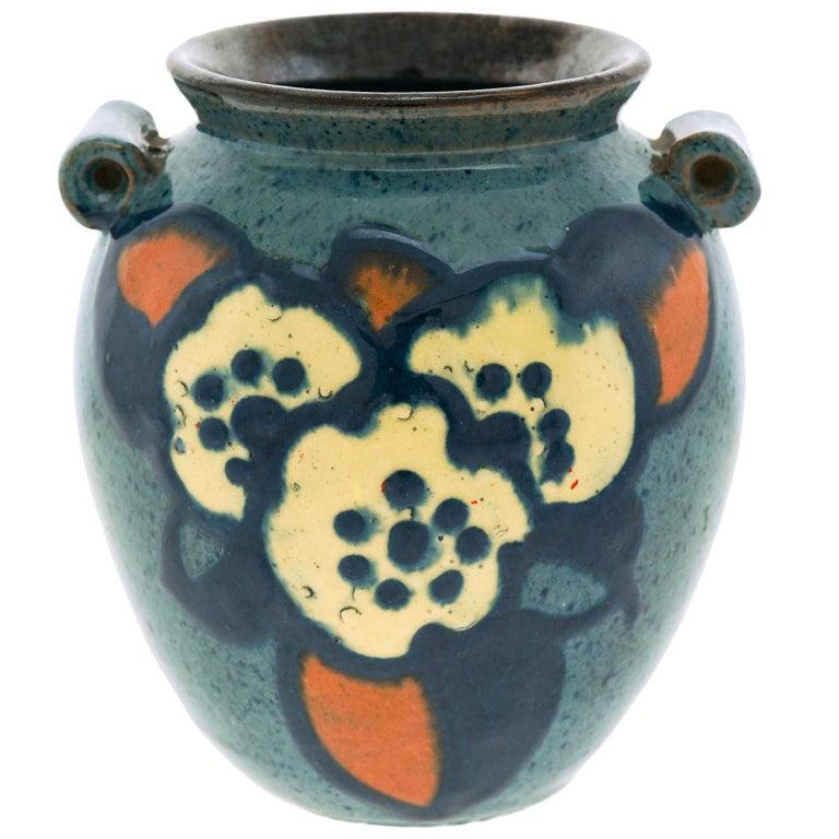 Art Deco Pottery Vase by Paul Jacquet For Sale