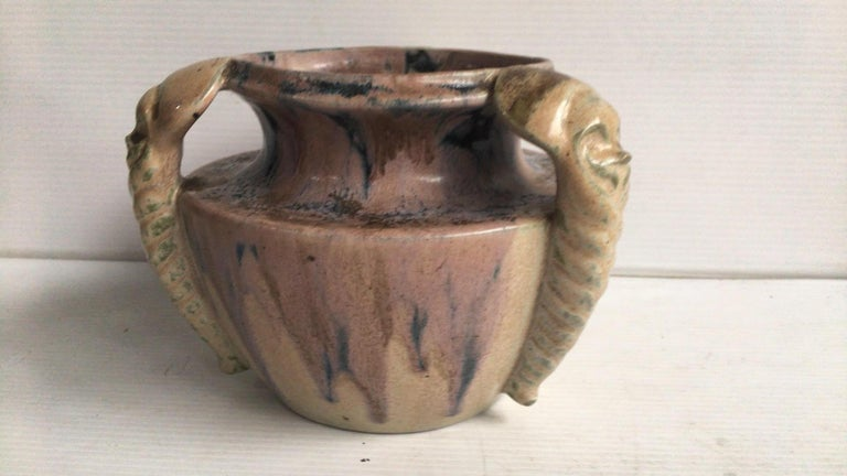 Art Deco Pottery Vase Charles Greber, circa 1930 In Good Condition For Sale In The Hills, TX