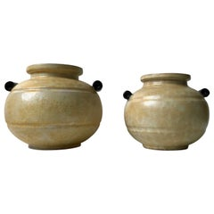 Art Deco Pottery Vases by Harald Ostergren for Ekeby, 1930s, Set of 2