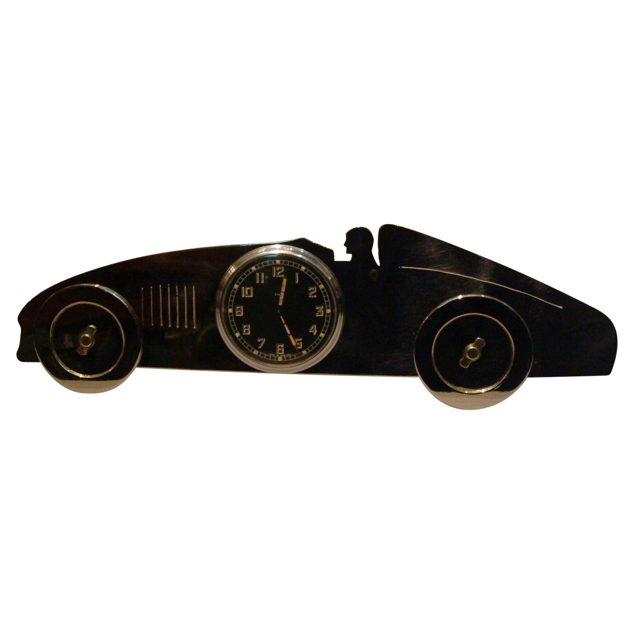 Art Deco Racing Car Desk Clock / Automobilia / U.K., 1920s