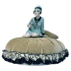 Art Deco Rare Pin Cushion Doll by Fasold & Stuach, c1930