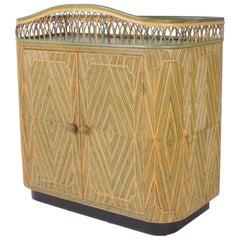 Art Deco Rattan Bar or Server