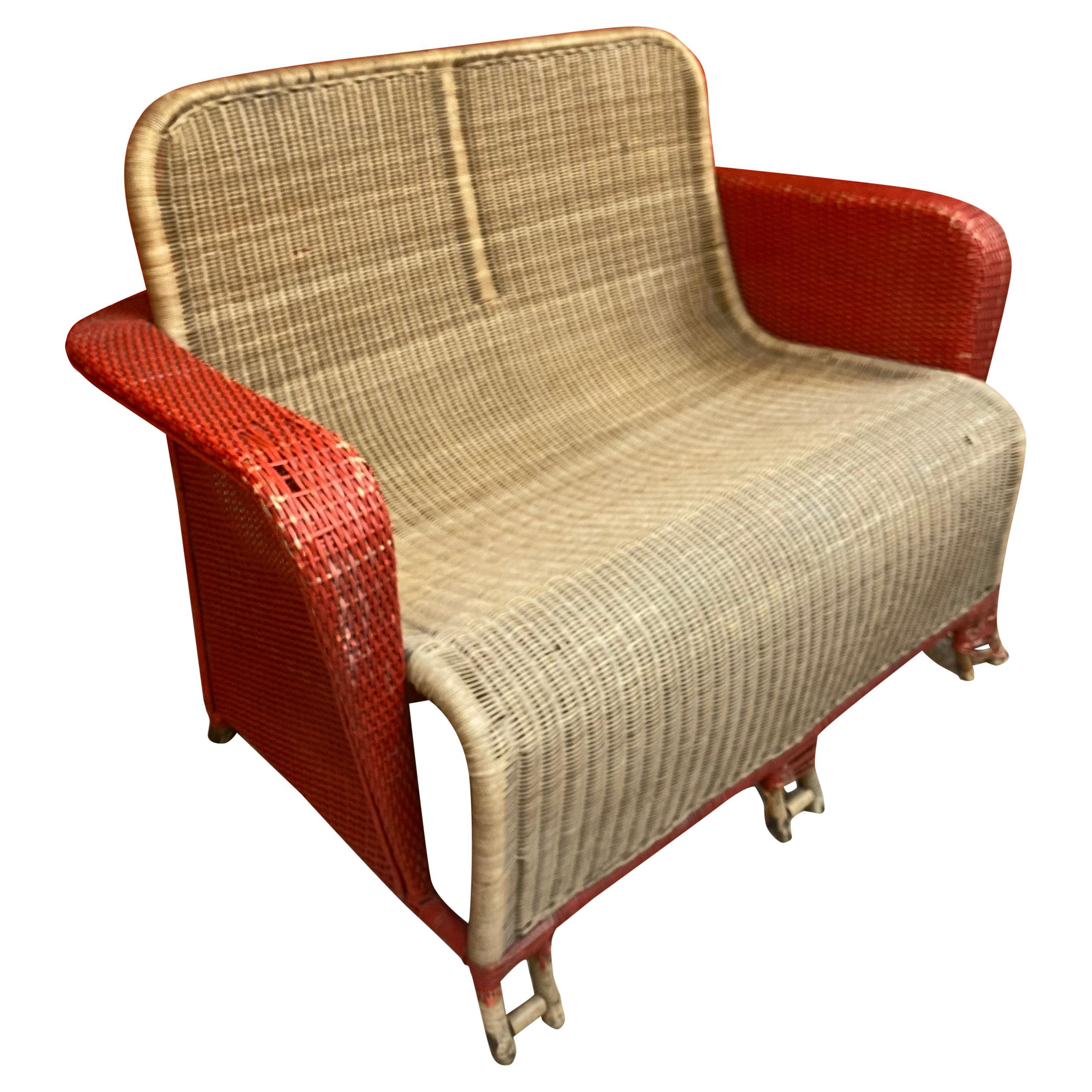 Art Deco Rattan Sofa, circa 1930