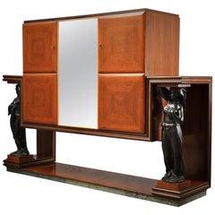 Art Deco Rectangular Italian Bar Cabinet, 1940