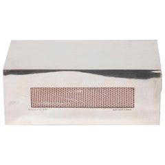 Art Deco Rectilinear Sterling Silver Matchbox Holder by Black, Starr & Gorham