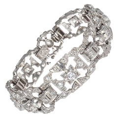 Art Deco Style Diamond Platinum Bracelet