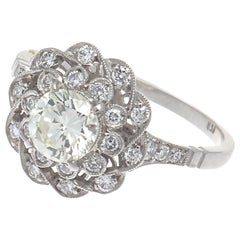 Art Deco Revival Diamond Platinum Engagement Ring
