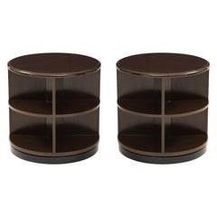 Art Deco Revolving Bookcase Side Tables