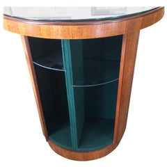 Art Deco Revolving Dry Cocktail Bar or Whisky Cabinet