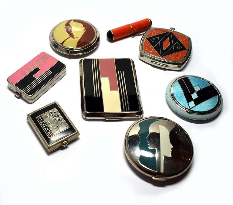 Art Deco Richard Hudnut Le Debut 'Tulip' Compact For Sale 9