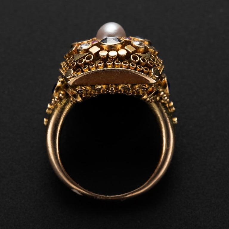 Women's or Men's Art Deco Ring by Elmar Seidler For Sale