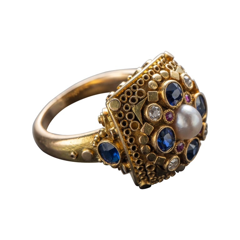 Art Deco Ring by Elmar Seidler For Sale
