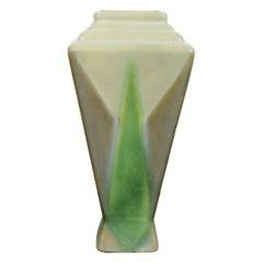 Art Deco Roseville Futura Torch Ceramic Art Vase Vessel 1930s Green