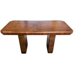 Art Deco Rosewood Desk Console Table