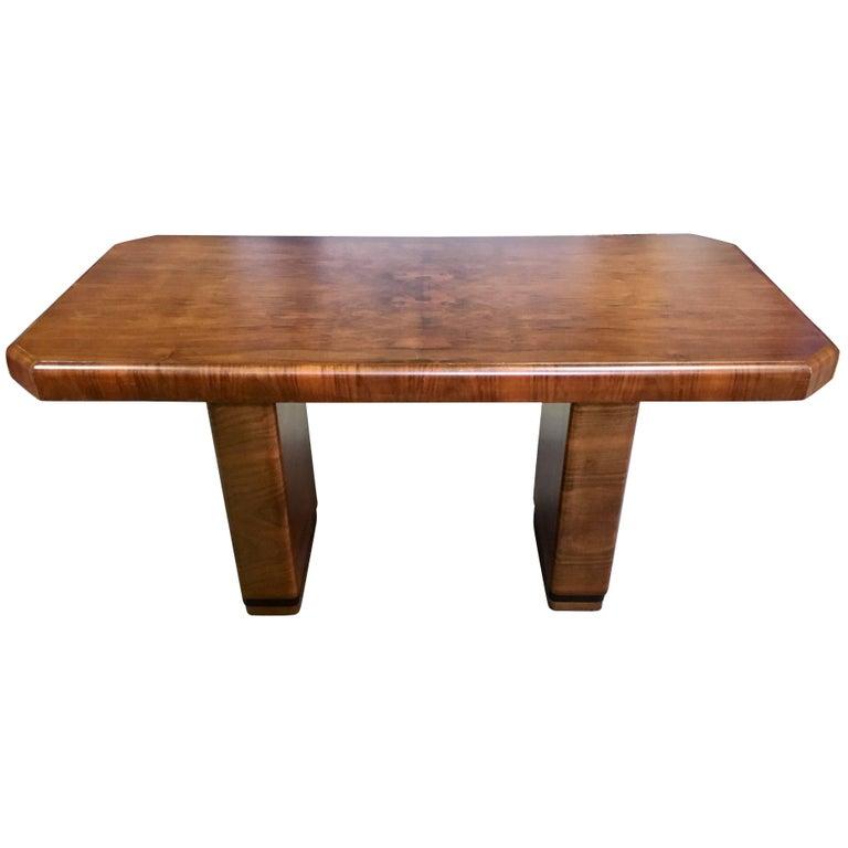 Art Deco Rosewood Desk Console Table