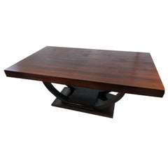Art Deco Rosewood Dining Table with Extensions