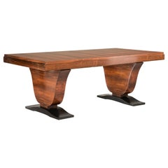 Art Deco Rosewood Extendable Rectangular Table