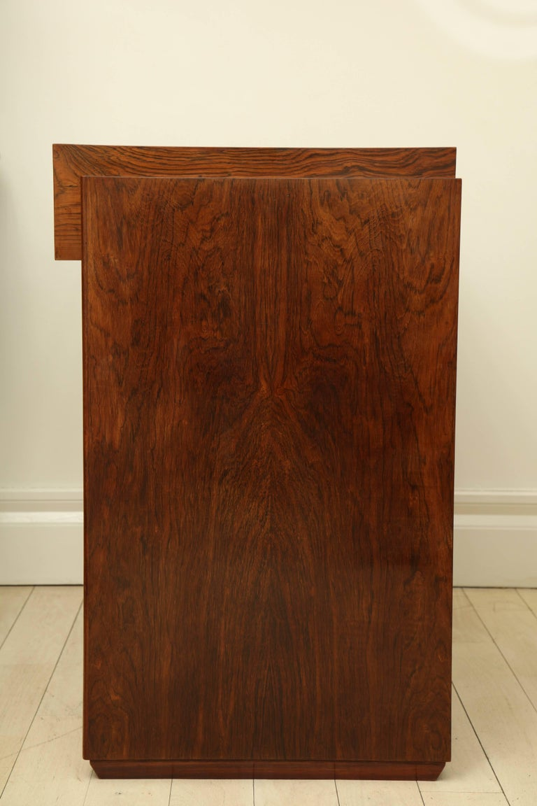 Art Deco Rosewood Writing Table with Two Drawers, France, circa 1940s For Sale 2