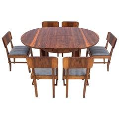Art Deco Round Dining Set