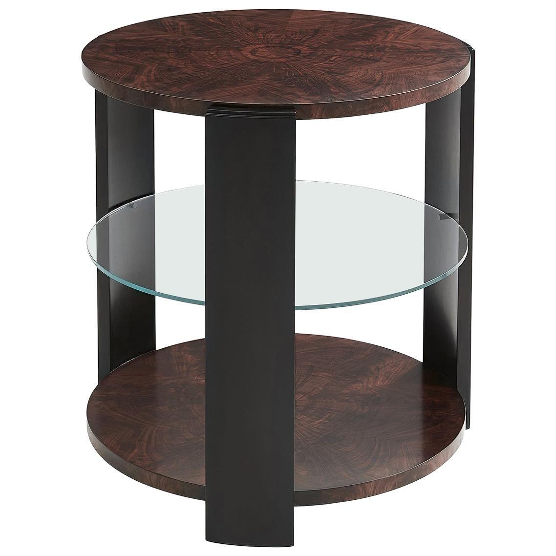 Art Deco Round Lamp Table