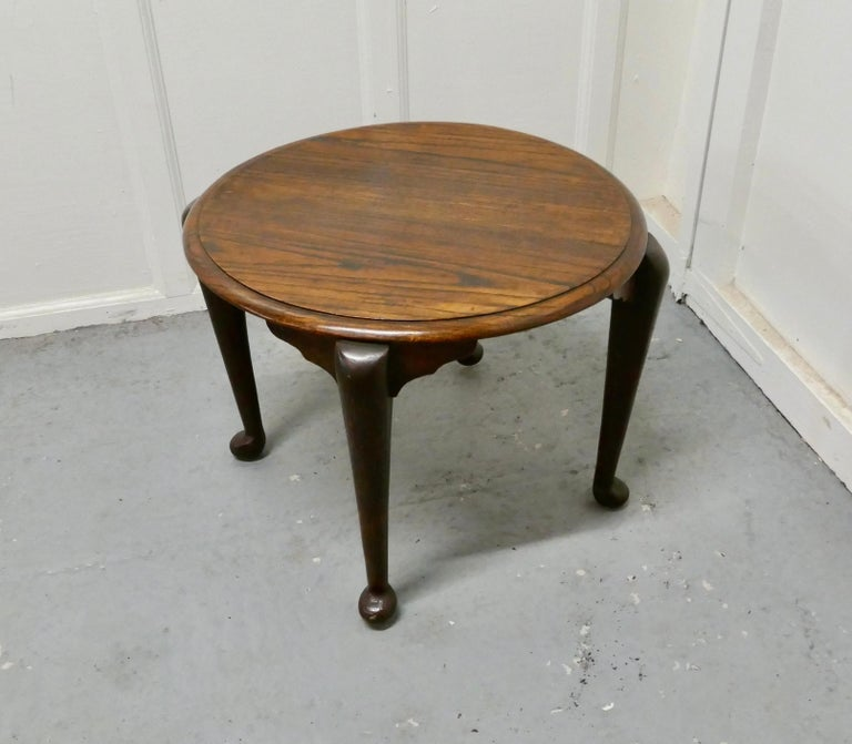 Art Deco round oak coffee table