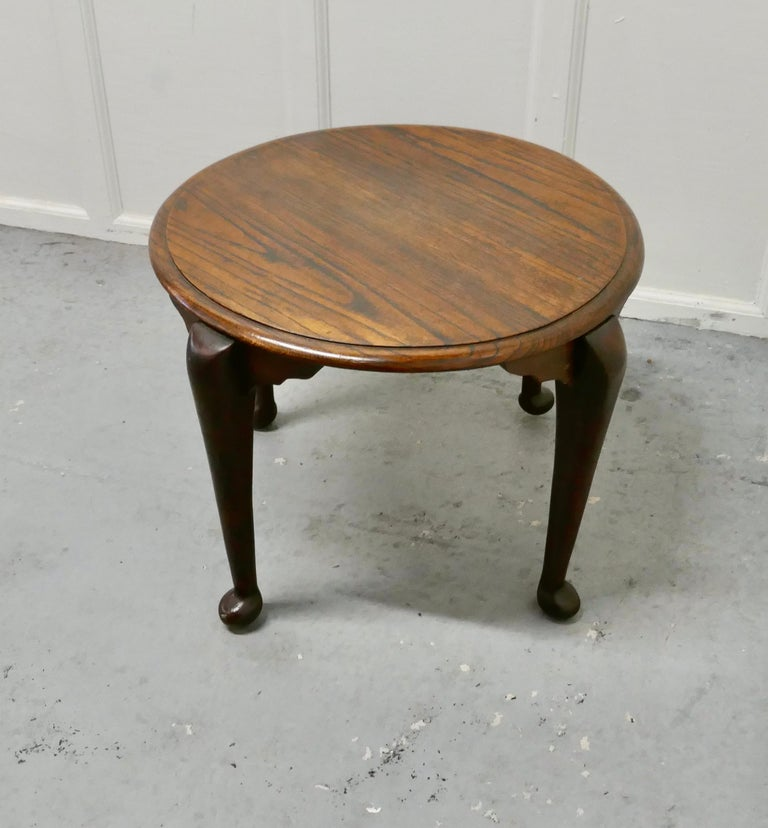 19th Century Art Deco Round Oak Coffee Table For Sale