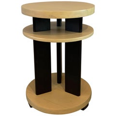 Art Deco Round Tiered Side Table