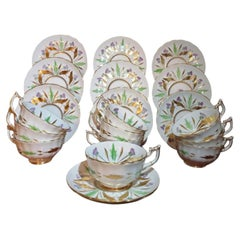 Art Deco Royal Chelsea 10 Cups and Saucers