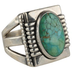 Art Deco Royston Turquoise Ring in Silver