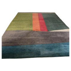 Large Wool Art Deco Rug