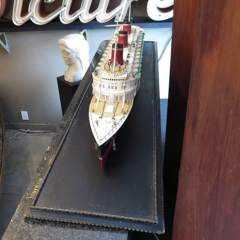 Art Deco S S Normandie Ocean Liner Travel Agency Display Model, circa 1935 For Sale 1