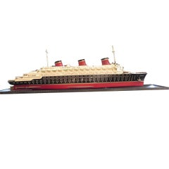 Art Deco S S Normandie Ocean Liner Travel Agency Display Model, circa 1935