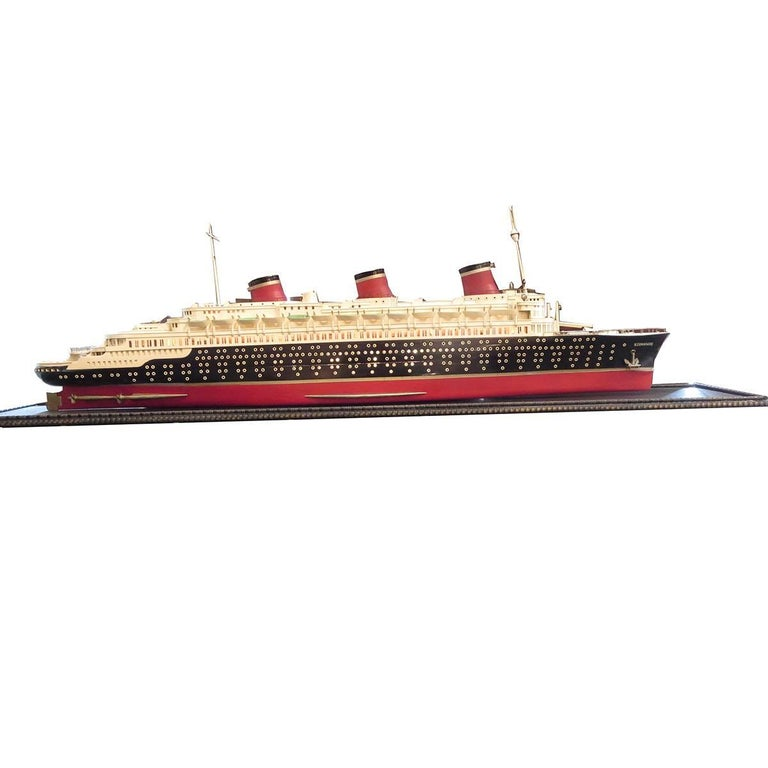 Art Deco S S Normandie Ocean Liner Travel Agency Display Model, circa 1935 For Sale