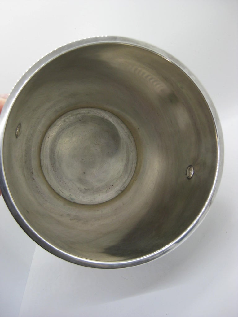 Art Deco Saint Medard Le Chardon French Silverplate Ice Bucket Champagne Cooler For Sale 6